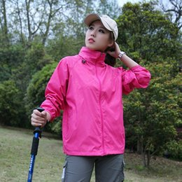 Wholesale Clothing Waterproof Woman - Spring and summer ultra-thin single-layer waterproof windproof breathable UVprotection sun protection couple quick-drying emergency clothing
