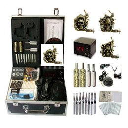 Wholesale Tattoo Supplies Grips - Basekey Tattoo Kit 3Guns K0153 Machine With Power Supply Grips(Ink Not Include)