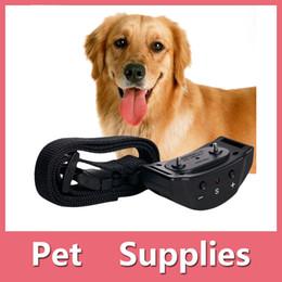 Wholesale Training Shock Ultrasonic - Automatic Anti No Bark Dog Pet Training Collar Shock Ultrasonic Control Collar Electric Shock Stop Barking Dog Trainer DHL Free 161008