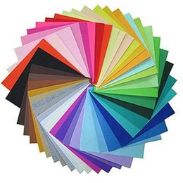 Wholesale Diy Polyester Felt - DIY Polyester Felt Fabric Non-woven Felt Sheet for Craft Work 150 x150 x1 mm DIY Fabric