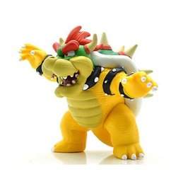 Wholesale Super Mario Koopa - 1Pc Action Figure Bowser Koopa King from Super Mario Bros Kids Action Figure Toys Robot Free Shipping