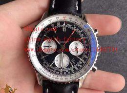 Wholesale Top Swiss Sport Watches - Luxury Top Quality JF Factory Maker Swiss ETA 7750 Movement Navitimer AB012012.BB01.435X Chronograph Mens Watch Watches