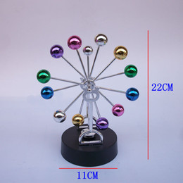 Wholesale Toy Wooden Ferris Wheel - free shipping whilesaleColorful ball ornaments color perpetual celestial motion tracker Yong Heng Wing put science toys wiggler Ferris wheel