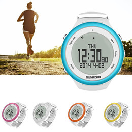 Wholesale Barometer Compass Watch - Wholesale- SUNROAD 5 colors Outdoor Sports Waterproof Watch Compass Altimeter Barometer Stopwatch Fitness Pedometers Equipment