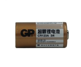 Wholesale Lithium 123 Batteries - 10pcs Original GP CR123A battery DL17345 123 3V 1400mah for Camera Night vision sight Lithium battery free shipping