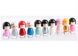 Wholesale Nail Varnish Gel - New Cute Lovely Baby Doll Design Bright Glitter Colors Gel Nail Polish Nail Varnish 10 Colors Free Shipping