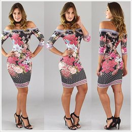 Wholesale Bodycon Mini Dress China - Women mini dress 2017 Summer casual Printed sexy dresses plus size robe cheap clothes Made in china women clubwear Bodycon dress Clothing