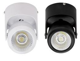 Клиновое крепление онлайн-Завод горячей продажи белый shell / Black shell Затемняемый 15W теплый холодный белый / натуральный белый поверхностного монтажа COB LED Down Light LED Spot light