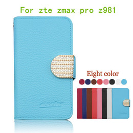 Wholesale Card Case Metal Flip - For zte zmax pro z981 flip leather pouch wallet case bling Diamond Rhineston Cover With credit card slots for Coolpad catalyst 3623A 3622A
