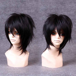 Wholesale Handsome Men Pictures - 100% Brand New High Quality Fashion Picture full lace wigs>>Handsome Boys Wig New Korean Fashion Short Men Natural Black Hair Cosplay Wigs