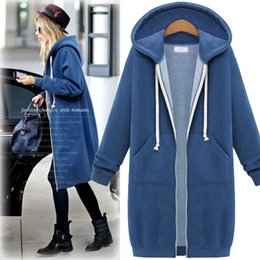 Wholesale Korean Style Coat Jacket Women - Plus size hoodie women sweatshirts korean style tracksuits womens long sleeve shirt coats woman jacket thick and long coat hoddies for women