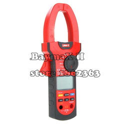 Wholesale Auto Range Meter - Wholesale-UNI-T UT208 Professional True-RMS Auto-ranging AC DC Clamp Meter with Inrush Current and Temperature Measurement