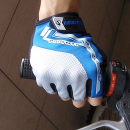Wholesale Merida Half Finger Cycling Gloves - Wholesale-Merida Cycling Team Bike Gloves Half Finger Racing gloves Silicone Gel Motorcycle M-XXL Cycling Gloves ciclismo Size M L XL