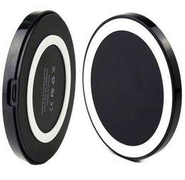 Argentina Cargadores inalámbricos Qi para teléfonos móviles Samsung S6 S7 Edge Charger Pad Cargador Plate Plate Transmisor Fast Portable Suministro