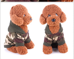 Wholesale Cheap Fleece Sweaters - Cheap dog clothes t shirt tee Sweatshirt Poodle Camouflage Coats Warm Hoodies dogs pets clothing Autumn Winter Dog Fleece Camouflage Sweater