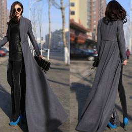 Wholesale ladies dress coats - Wholesale-2016 Winter Fashion Women Wool Blends Coat Overcoat brand designer ladies luxury coats Long Jacket Manteau Femme Maxi Dress W020