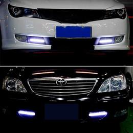 2Pcs 17CM LED COB DRL feux diurnes DC12V externe étanche Led voiture style voiture source de lumière parking barre de brouillard lampe ? partir de fabricateur