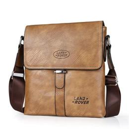 Wholesale Male Travel Shoulder Bag - 2017 Retro Soft Leather Messenger Bags Men Small Shoulder Travel Crossbody Luxury Bags Male Handbags Brands Names