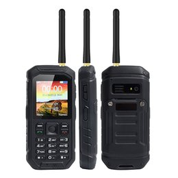 Wholesale Dual Band Tv Cell Phone - Unlocked IP68 Rugged Waterproof UHF Walkie Talkie mobile Cell phone Alps X6 2.4Inch 2500mAh dual sim card quad band GSM