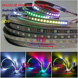 Wholesale Dream Rgb Led Strip Waterproof - WS2812B SK6812 5050 RGB Dream color LED Strip 150leds 300 Leds 144LED M 60LED M 30LED M Individual Addressable waterproof IP67 DC5V