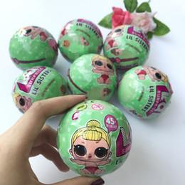 Wholesale Toy Egg Cm - 7.5 cm Send Random Dress Change LOL SURPRISE SURPRISE DOLL Baby Tear Open Color Change Egg Doll Action Figure Toys