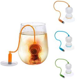 Wholesale cartoon life - Life Diver Tea Infusers Silicone Deep Coffee Makers Loose Leaf Tea Strainers Bag Kitchen Drinkware Tool CCA8258 50pcs