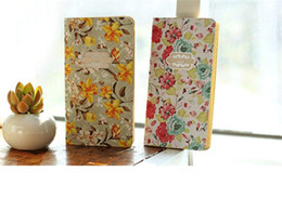 Wholesale Wholesale 16 Cm - Blossom Age Vintage Kraft Paper Small Notebook Creative Korean Type Diary 4 Colors Selection 8.6*16 CM