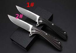 Wholesale Titanium Knives China - Newer China titanium ball bearing flip knife handle 58-60HRC handle D2 steel blade folding knife 1pcs free shipping