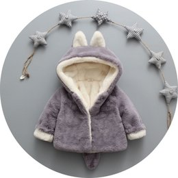 Wholesale Baby Winter Cape - Ins Fox warm Cape Coat Hooded for baby Unisex Lamb wool Furry Faux fur Baby Outwear Winter clothing for baby Soft Comfortable 2017
