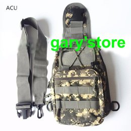 Wholesale Cp Camouflage - Men Outdoor Tactical ACU CP Camouflage Army Bag Hiking Travel Sport Shoulder Backpack Riding Bag ht139