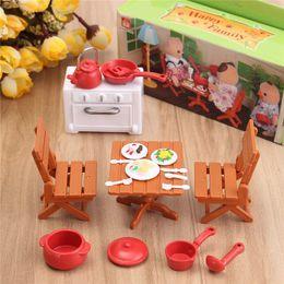 Wholesale Mini Dolls For Dollhouse - DIY Plastic DollHouse Mini Picnic Set Acessories For Children 1 12 Dolls House Miniatura Decor Table Furniture Toy Sets