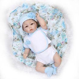 Wholesale Half Body Silicone Doll - New baby doll reborn Half silicone body cloth body boy gender soft touch boneca reborn realista weeding gift kids toys