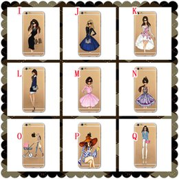 Wholesale 3d Sexy Cartoon Girls - Fashion Sexy Girl Woman Hard PC Case For Iphone 8 7 Plus 7th 6 6S SE 5 5S 3D Cartoon Flower Cosmetics Lip Fruit Orange Pineapple Skin Cover