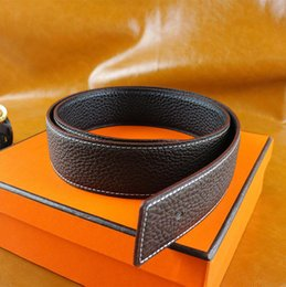 Wholesale Leather Belts Men Buckles - High quality cowskin genuine leather designer belt for men and women brand waist Belts wtih gold or silver H buckle with box