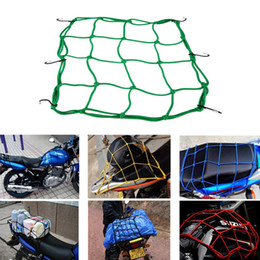 Wholesale Tank Motorcycle Helmets - 6 Hooks Motorcycle Hold down Fuel Tank Mesh Net Luggage Helmet Mesh Net Mesh Bungee 5 colors