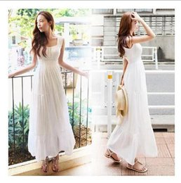 Wholesale Dres For Party - Dresses For Women's 2015 Chiffon Wedding Dresses Cocktail Party Fashion Fairy Sleeveless Long Maxi Dress Beach BOHO Formal Beach Dres