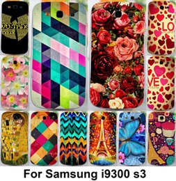 Wholesale Beautiful Case S3 - Wholesale-Free shipping beautiful painted Hard cell phone cases covers For Samsung galaxy s3 i9300 mobilephone cover hood skin hood bag