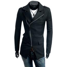 мужская мода корейское пальто Скидка Wholesale- Korean Fashion Slim Windbreaker Men 2017 Sobretudo Masculinos Casaco Masculino Trench Coat Hombre Overcoat Korean HZ0053