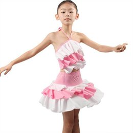 Wholesale Latin Dance Costumes For Girls - Plus Size Children's Latin Dance Dress For Girls Kids Leisure Practice Performance Dance Costumes 2015 New Arrival Summer Style