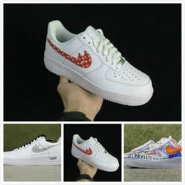 Wholesale Adult Skate Shoes - men women Athletic Vlone X Ultra Classics Air 1 Low Skate Shoes,Adult Brand Casual Sneakers Black Orange 36-45