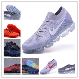 Wholesale Tan Shoes Men Fashion - Wholesale Vapormax Mens Running Shoes Women Men Sneakers Women Fashion Athletic Sport Shoe Hot Corss Hiking Jogging Walking Outdoor Shoe