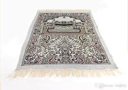 Wholesale Islamic Prayer Rugs - Free Shipping Hot Sale New Design Unique MashaAllah Travelling Islamic Muslim Prayer Mat  Rug  Carpet Salat Musallah 70*110cm