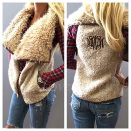 Wholesale Cheap Vests Color Fur - Cheap wholesale ladies vest and new large plush fur collar coat embroidered vest letter