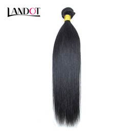 Wholesale Ombre Malaysian - Peruvian Malaysian Indian Brazilian Silky Straight Virgin Human Hair Weave Bundles Unprocessed 8A Remy Hair Extensions Natural Color Dyeable