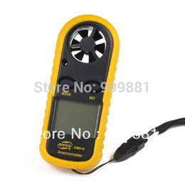 Wholesale Digital LCD CFM CMM Thermo Anemometer m s MPH Air Velocity Temperature Smart Wind Speed Gauge Meter NTC Temperatures