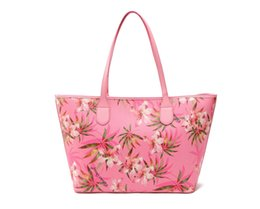 Wholesale Free Video Phone - AF574 VIDEO modern fashion flower print with hanging pendant woman lady girl shopper tote bag free shipping vs574