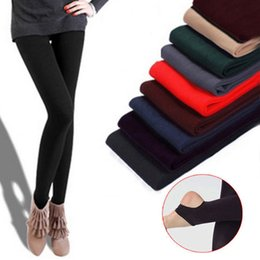 Wholesale Super Slimming Leggings - Fashion Leggings For Women Arrival Casual Warm Winter Faux Velvet Legging Knitted Thick Slim Leggings Super Elastic free shipping