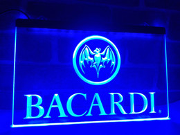 Wholesale Flags Banner Green - LA023b- Bacardi Banner Flag LED Neon Light Sign