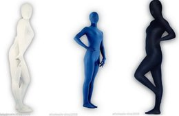 Wholesale Cotton Lycra Catsuit - 4 Colour, New fullboby Black cotton Zentai Lycra Catsuit sexy suit