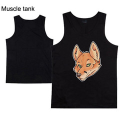 Wholesale Sleeveless Muscle Tees - Fox New Fashion Men's T-Shirts Tops Vest Muscle Sleeveless men Tee Sport Gym Wholesale free shipping